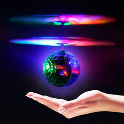 Geekercity Mini Flying RC Drone Helicopter Infrared Induction LED Remote Ball Mi $17.37