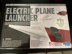 4M Electric Plane Launcher Kit Fun Mechanics Paper Airplanes New Sealed In Box $12.50