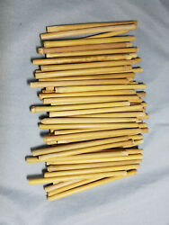 50 5quot; Antique reed clay pipe stems for Civil War pipes $50.00