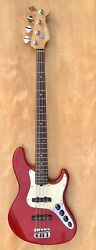 Fender USA American Electric Active Jazz Bass Deluxe Transparent Red 1999 $1200.00