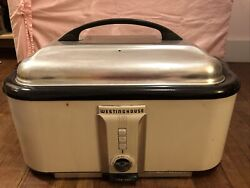 Vintage 50s WESTINGHOUSE ROASTER OVEN countertop white electric WORKS $150.00