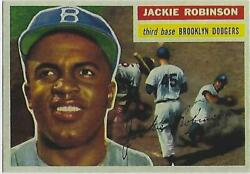 1956 JACKIE ROBINSON TOPPS # 30 DODGER RP GREAT ICONIC CARD $2.87