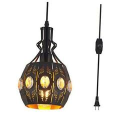 Hanging Lamps Swag Lights Plug in Pendant LightRetro StyleVintage Yl13 black $64.83