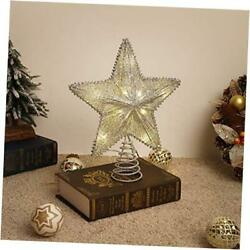 Star Tree Topper Battery Powered Decorative Light Christmas Concepts Silver
