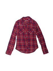 Assorted Brands Girls Pink Long Sleeve Button Down Shirt M Youth $20.99