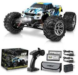 1:10 Scale Large RC Cars 50 kmh Speed Boys Remote Control Car Blue Yellow $241.27