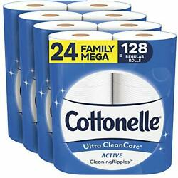 Soft Toilet Paper with Active Cleaning Ripples Ultra CleanCare Bath Tissue 24 $34.62