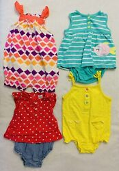 Lot of 4 Cute Baby Girl Clothes Size 6 9 month Excellent Condition $12.50