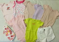Lot of 9 Cute Baby Girl Clothes Size 6 month Excellent Condition $12.50