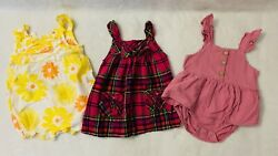 Lot of 3 Cute Baby Girl Clothes Size 12 month Excellent Condition $11.11