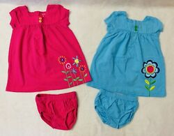 Lot of 4 Cute Baby Girl Clothes Size 9 month Excellent Condition $11.11
