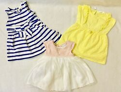 Lot of 3 Cute Baby Girl Dresess Size 12 month Excellent Condition $12.50