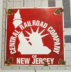 Vintage CENTRAL RAILROAD COMPANY OF NEW JERSEY Sign $73.00