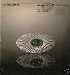 SOTHEBY#x27;S ANTIQUE PERIOD JEWELRY AUCTION CATALOG 04 81 $24.95