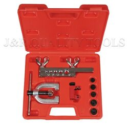 Double Flaring Brake Line Tool Kit Tubing Car Truck Tool with Mini Pipe Cutter A $19.89