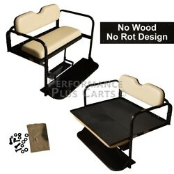 Club Car DS Golf Cart Flip Folding Rear Back Seat Kit - Buff $289.95