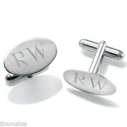 MENS PERSONALIZED INITIAL STERLING SILVER CUFFLINKS FREE WORLDWIDE SHIPPING $151.99