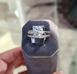 Platinum Diamond Engagement Setting and Band by Michael Bondanza