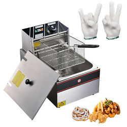 12L Electric Deep Fryer Commercial Countertop Basket French Fry FamilyFrench