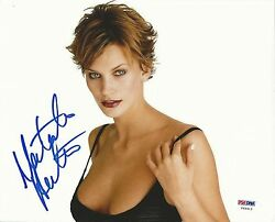 Natasha Henstridge Signed 8x10 Photo PSADNA COA Species Picture Auto She Spies