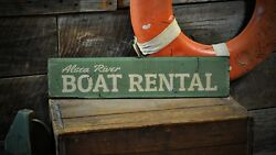 Custom Boat Rental Lake House Sign - Rustic Hand Made Wooden Sign ENS1000048