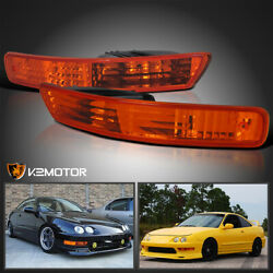 For 1998-2001 Acura Integra Amber Bumper Parking Signal Lights Lamps Left+Right $26.38