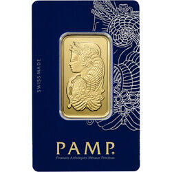 1 oz. Gold Bar PAMP Suisse Fortuna 999.9 Fine in Sealed Assay $1997.43