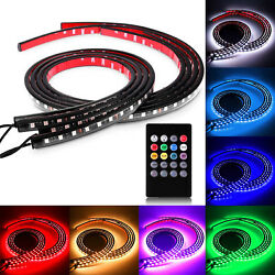 4pcs 8-Color RGB LED strips 48 x 36in Underbody Underglow Kit w Sound Active