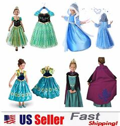 Princess Elsa Anna Role Cosplay Dress up Costume Dress for Girls Toddler 2 10 Y $16.98