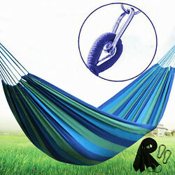 Outdoor Cotton Rope Hammock Hanging Swing Camping Canvas Bed Double Single USA $19.98
