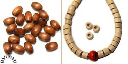 WOOD BEADS JEWELRY MAKING SUPPLIES CHOICE OF 9x6mm OVAL or 5x3mm CYCLINDER