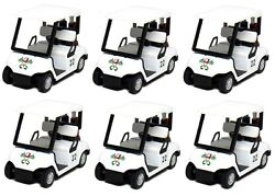 6 PCS Die-Cast Metal Golf Club Cart Model  With Club Pull Back action 5 inch  $29.98