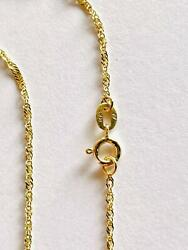 14K Solid Yellow Gold Singapore Chain Width 1.0 mm Length 16 inches 40 CM 020 $65.10