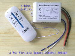 US Standard 110V Wireless Remote Control 2 3 way lamp switch Anti interference $10.49