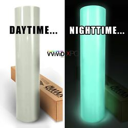 XPO Gloss Green Glow In The Dark Vinyl Car Wrap VViViD film decal roll satin air
