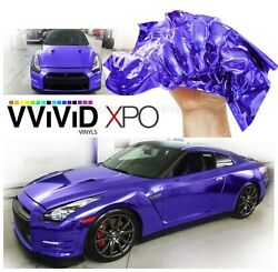 XPO Supercast Purple Conform Chrome vinyl car wrap Vvivid decal sticker mirror