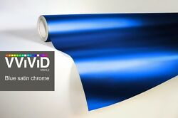 XPO Blue Satin Chrome Film Vvivid vinyl car wrap decal detail sticker mirror