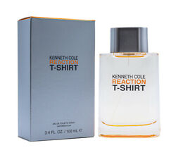 Reaction T-Shirt by Kenneth Cole 3.4 oz EDT Cologne for Men New In Box $13.10