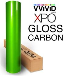 XPO Green Carbon Gloss VViViD Tech Art vinyl car wrap fiber roll films decals