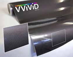 XPO Grey Carbon Gloss VViViD stretch bubble vinyl car wrap fiber sizes roll