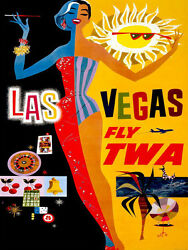 Quality POSTER.Las Vegas Night life and Summertime.Interior Designer art.v438
