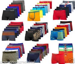 3 612 Mens Microfiber Boxer Briefs Underwear Seamless Compression Knocker Lot $32.95