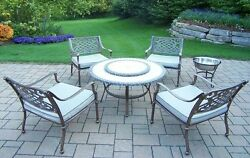Oakland Living Tacoma 6 Piece Fire Pit Seating Group with Cushion
