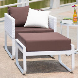 Fine Mod Imports Ultra Outdoor Lounge Chair with Cushion