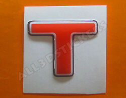 3D Stickers Resin Domed LETTER T - Color Red - 25 mm(1 inch) Adhesive Decal $3.99