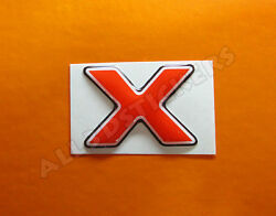 3D Stickers Resin Domed LETTER X - Color Red - 25 mm(1 inch) Adhesive Decal $3.99