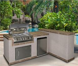 Outdoor Gas Barbeque Grill Patio Garden Kithen Living BBQ Island Flame Natural