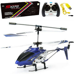 Syma S107G RC Helicopter 3.5CH Remote Control Helicopter w Gyro Kids Gift Blue $19.98