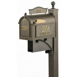 Mail Letters Magazine Ground Mount Mailbox Deluxe Post Brackets Newspaper Slot
