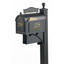 Magazines Mail Ground Mount Mailbox Deluxe Post Brackets Finial Address Plaque